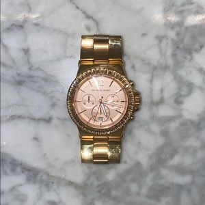 Michael Kors Rose Gold Diamond Watch.